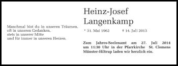 Zur Gedenkseite von Heinz-Josef