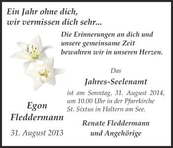Zur Gedenkseite von Egon