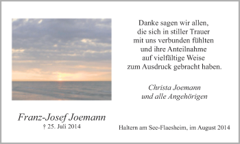 Zur Gedenkseite von Franz-Josef