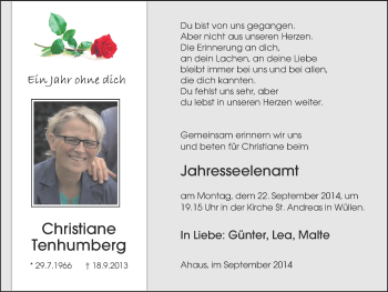 Zur Gedenkseite von Christiane