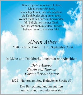 Zur Gedenkseite von Alwin