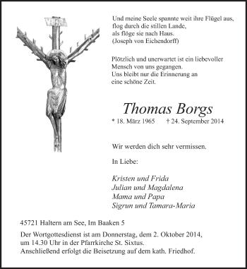 Zur Gedenkseite von Thomas