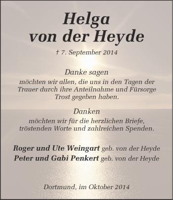 Zur Gedenkseite von Helga