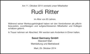 Zur Gedenkseite von Rudi