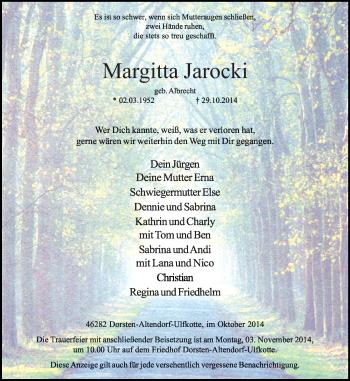Zur Gedenkseite von Margitta