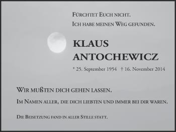 Zur Gedenkseite von Klaus