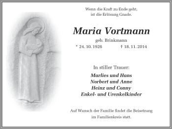 Zur Gedenkseite von Maria