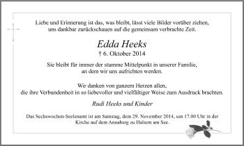 Zur Gedenkseite von Edda