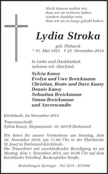 Zur Gedenkseite von Lydia