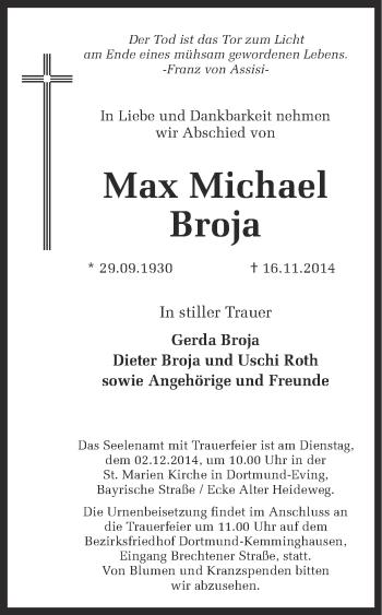 Zur Gedenkseite von Max Michael