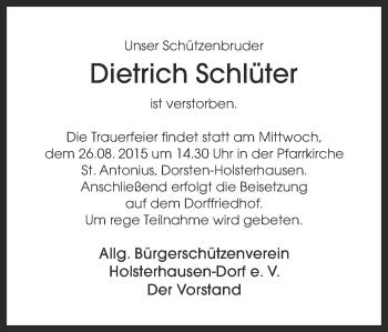 Zur Gedenkseite von Dietrich