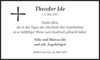 Zur Gedenkseite von Theodor