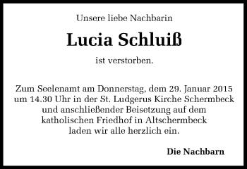 Zur Gedenkseite von Lucia