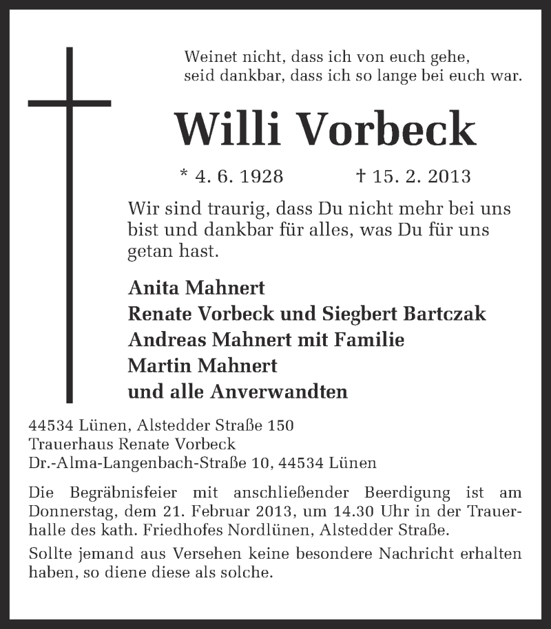 Dr. Willi Vorbeck