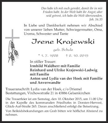 Zur Gedenkseite von Irene