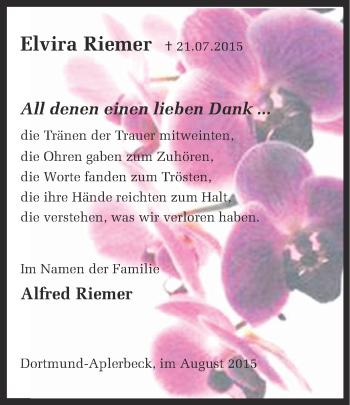 Zur Gedenkseite von Elvira