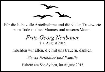 Zur Gedenkseite von Fritz-Georg